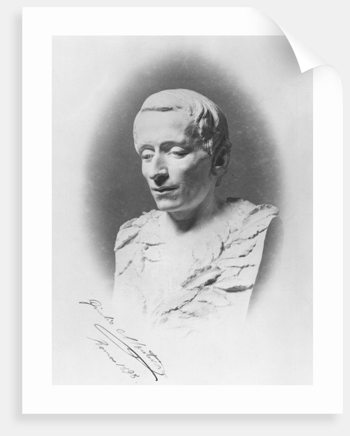 Bust of Giacomo Leopardi by Giulio Monteverde