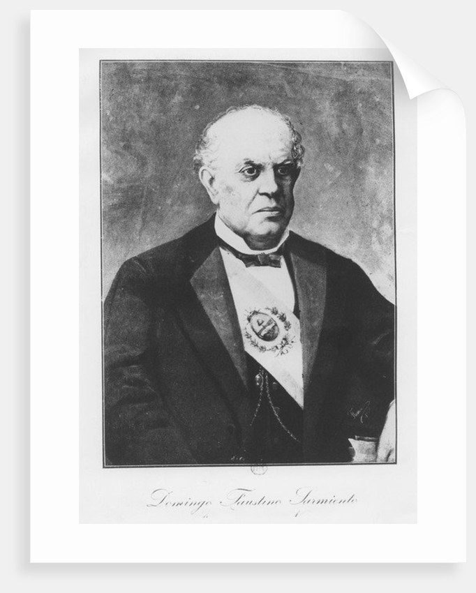 Domingo Faustino Sarmiento by French School