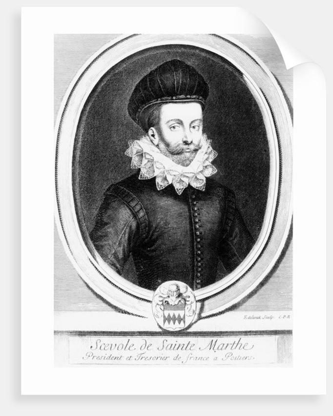 Portrait of Scévole de Sainte-Marthe by Gerard Edelinck