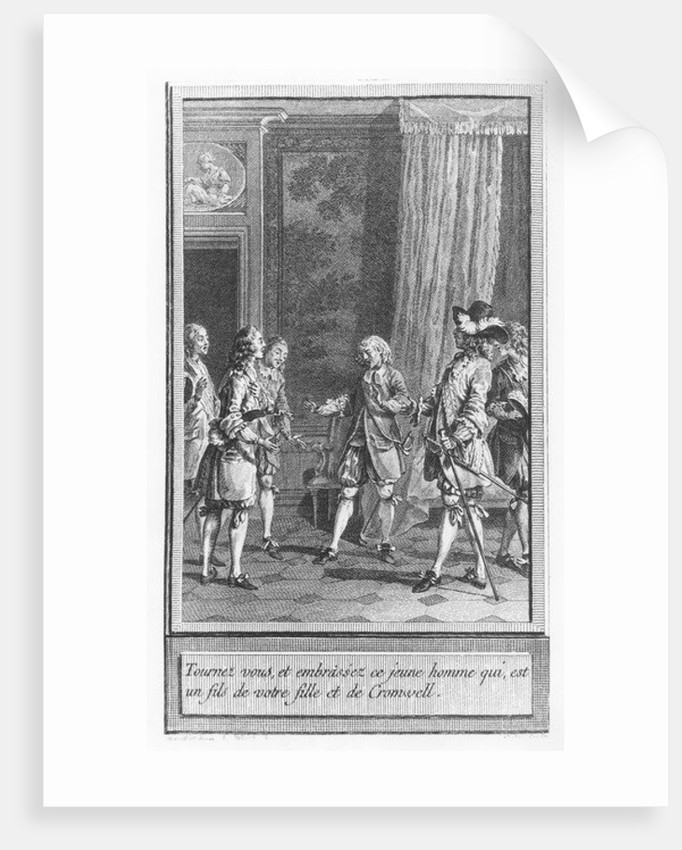 Illustration from 'The Life and Adventures of Mr. Cleveland, Natural Son of Oliver Cromwell' by Abbé Prévost by Charles Emmanuel Patas