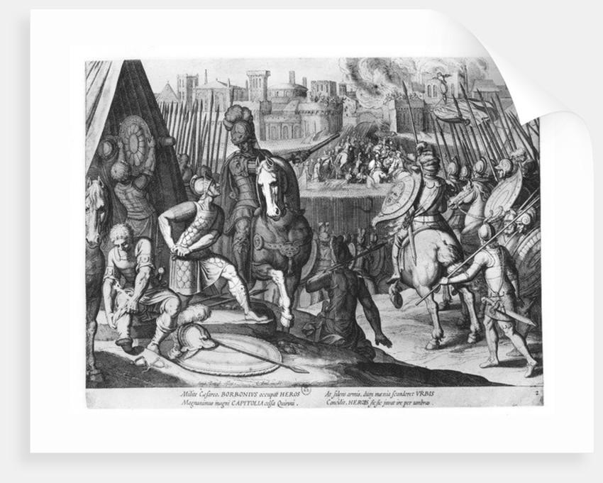 Charles III, Duke of Bourbon at the Sack of Rome in 1527 by Cornelis Boel