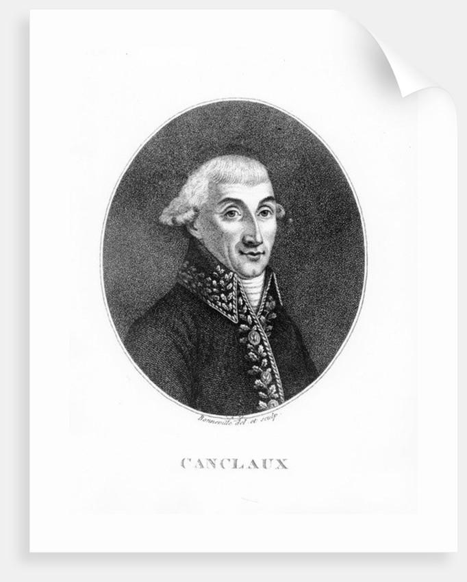 Jean Baptiste Camille de Canclaux by Francois Bonneville