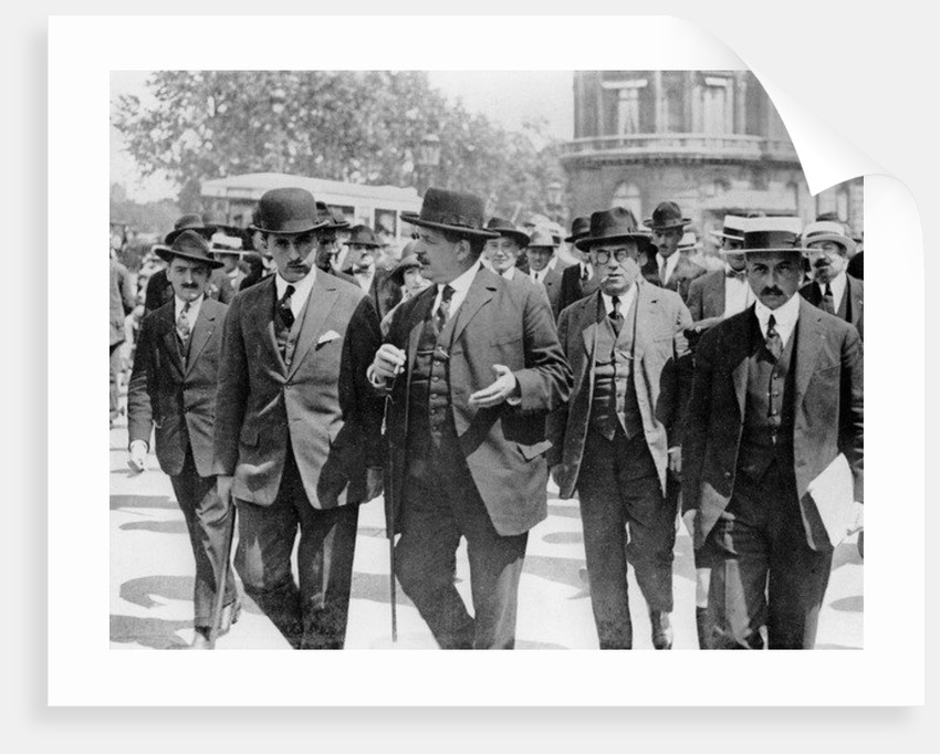 Édouard Herriot after the meeting of the Cartel des Gauches at the Palais d'Orsay by French Photographer