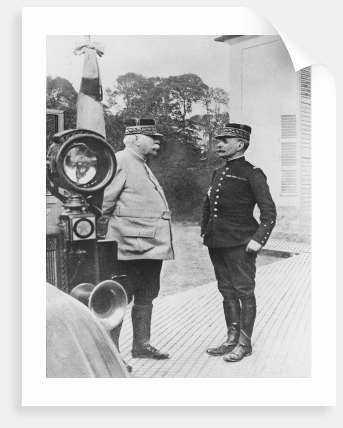 General Joffre and General Foch by French Photographer