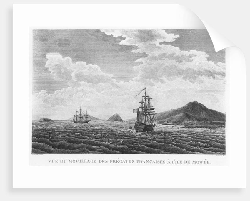 The frigates of La Perouse at the island of Maui by French School