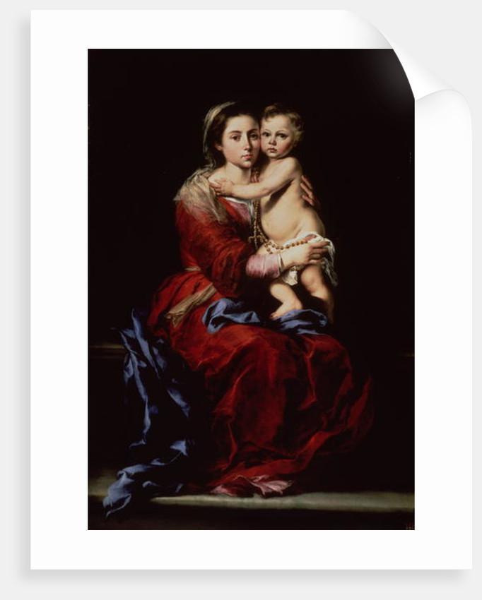 The Virgin of the Rosary by Bartolome Esteban Murillo