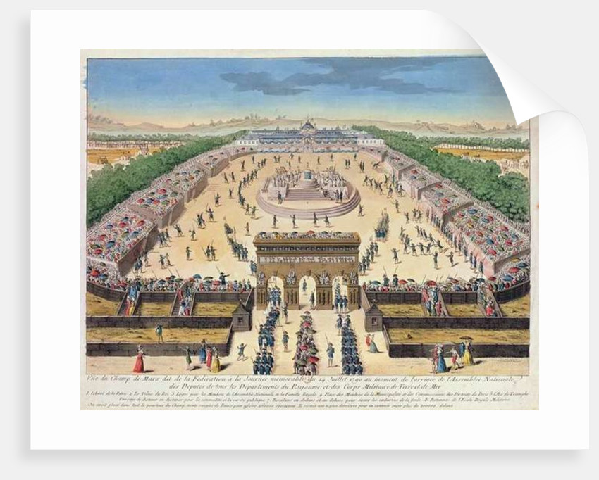 View of the Champs de Mars by French School
