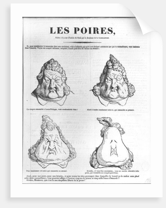 Les Poires by Charles Philipon
