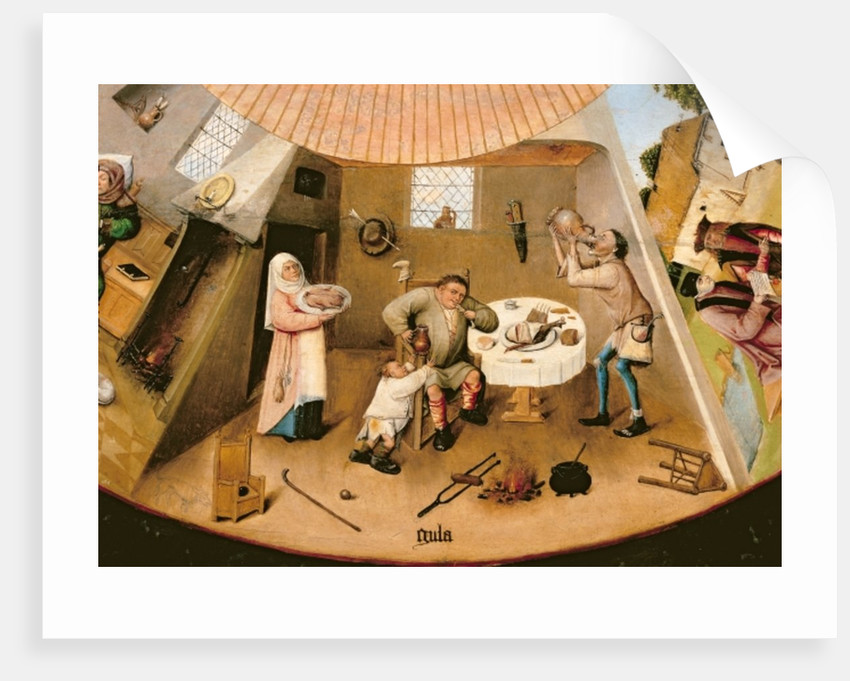 Gluttony, detail from the Table of the Seven Deadly Sins and the Four Last Things by Hieronymus Bosch