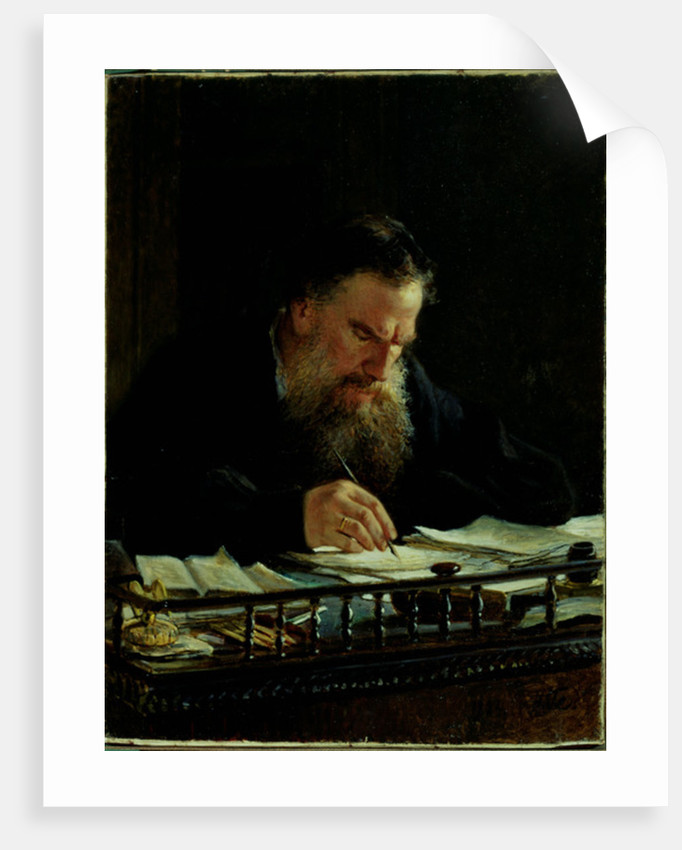 Portrait of Lev Tolstoy by Nikolai Nikolajevitch Gay