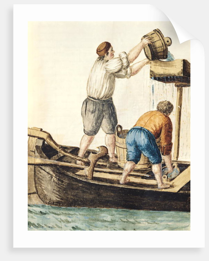 Boatmen Pouring Fresh Water into the Pipelines by Jan van Grevenbroeck