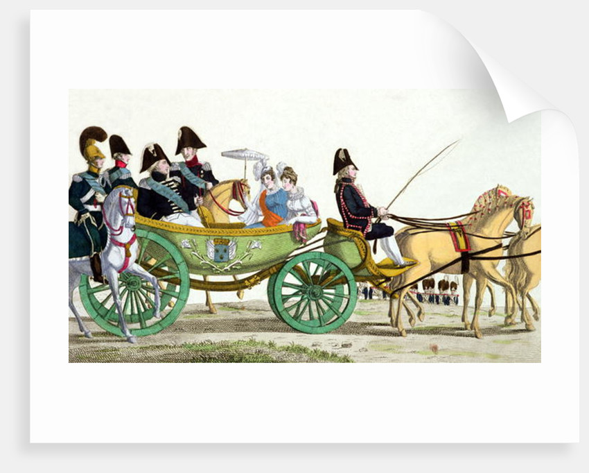 Louis XVIII and his Family Reviewing the Royal Troops at the Champ de Mars by French School