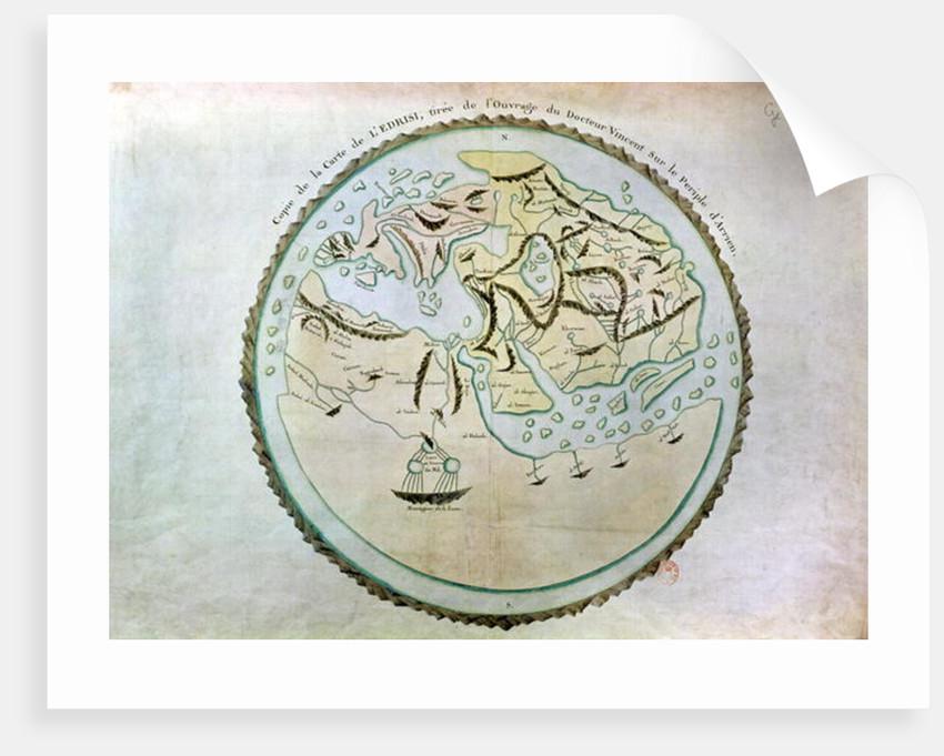 Map of the world by Abu Muhammad Al-Idrisi or Edrisi