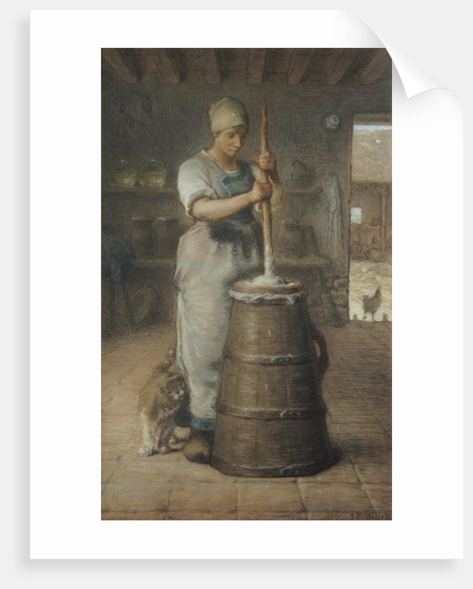 Churning Butter by Jean-Francois Millet