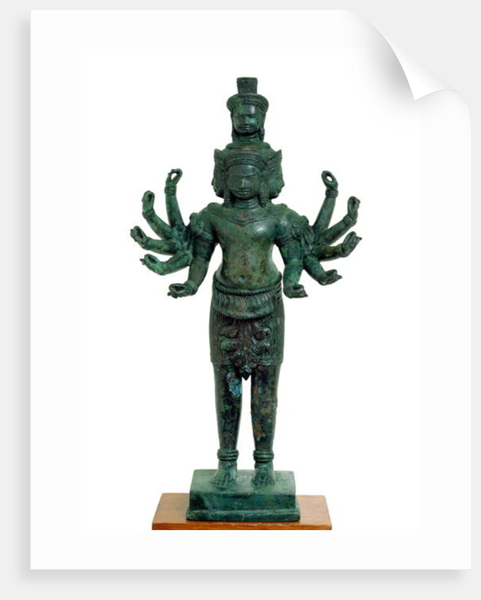 Shiva with many arms and heads, Angkor by Cambodian