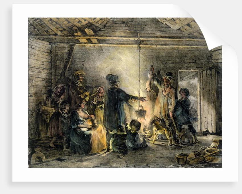 Interior of a Coal-Miner's Hut by Nicolas Toussaint Charlet