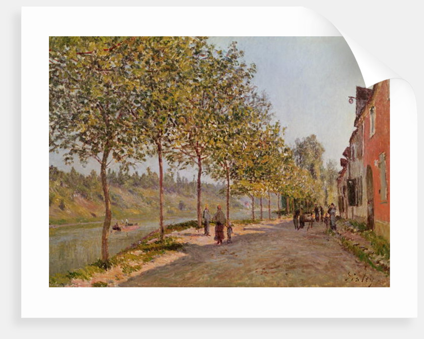June Morning in Saint-Mammes by Alfred Sisley