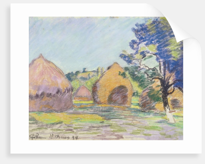 Haystacks at Saint-Cheron by Jean Baptiste Armand Guillaumin