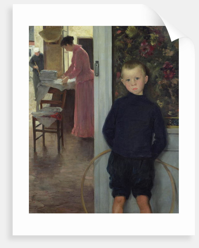 Interior with Women and a Child by Paul Mathey