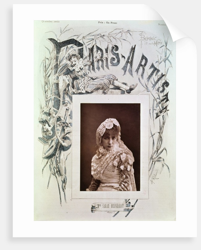 Sarah Bernhardt in the role of Marion Delorme at the Theatre de la Porte Saint-Martin by Nadar