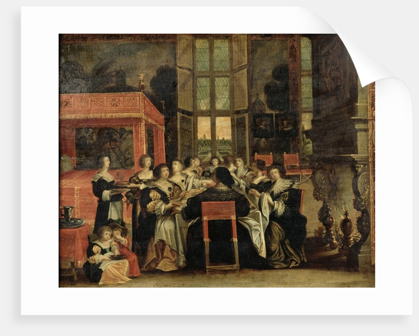 A Conversation Between Women, also said Women at lunch by Abraham Bosse