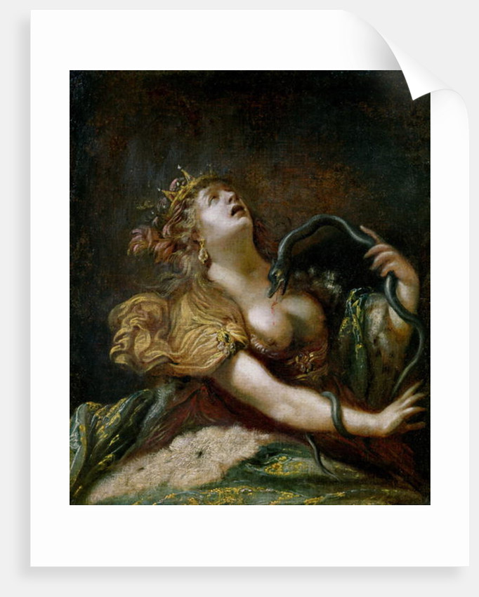 Cleopatra Committing Suicide by Claude Vignon