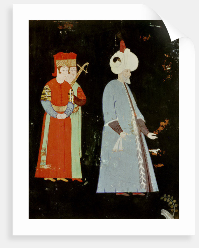 The Sultan Suleyman the Magnificent with Two Dignitaries by Nakkep
