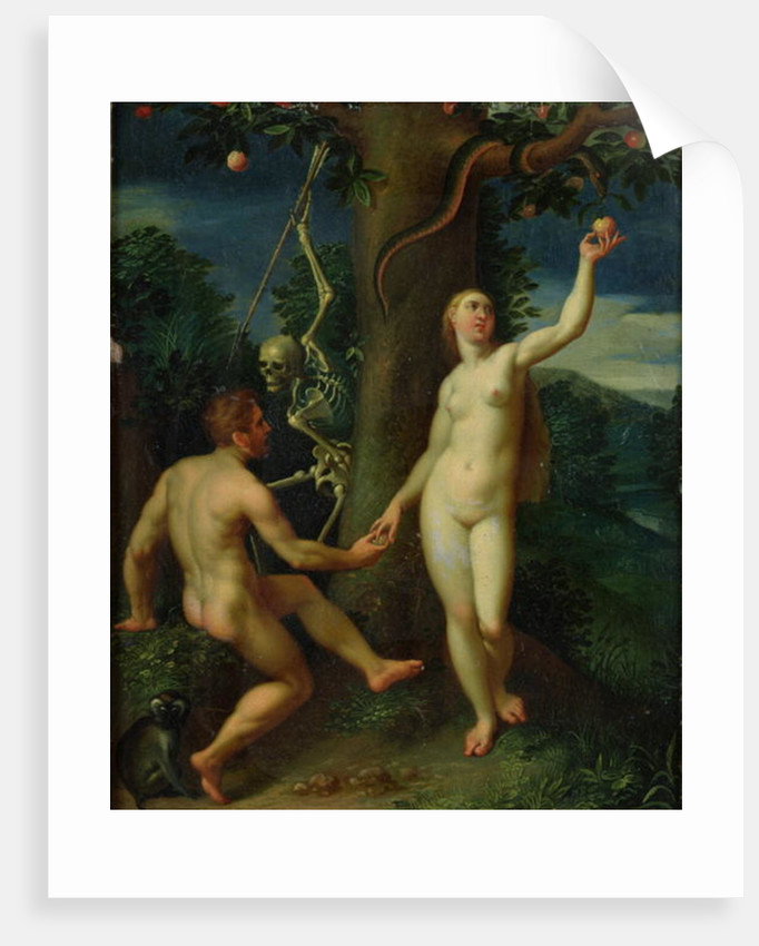 Adam and Eve by Hans I or Johann Rottenhammer