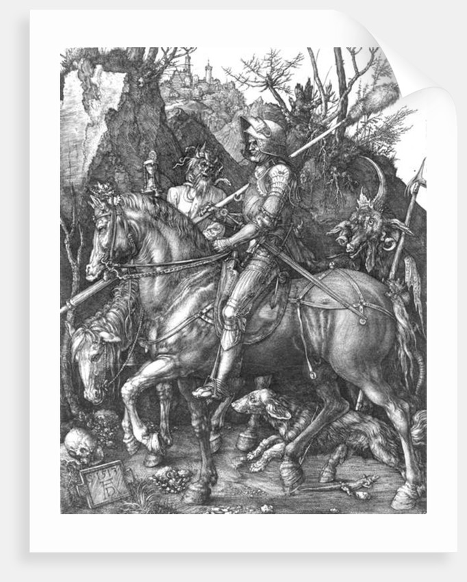 Knight, Death and the Devil by Albrecht Dürer or Duerer