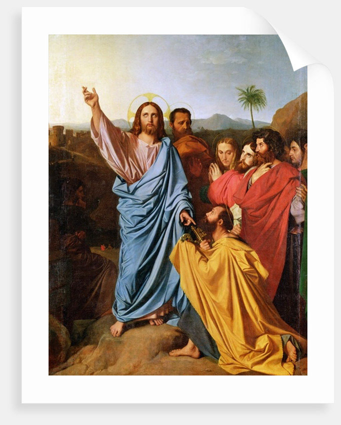 Jesus Returning the Keys to St. Peter by Jean Auguste Dominique Ingres