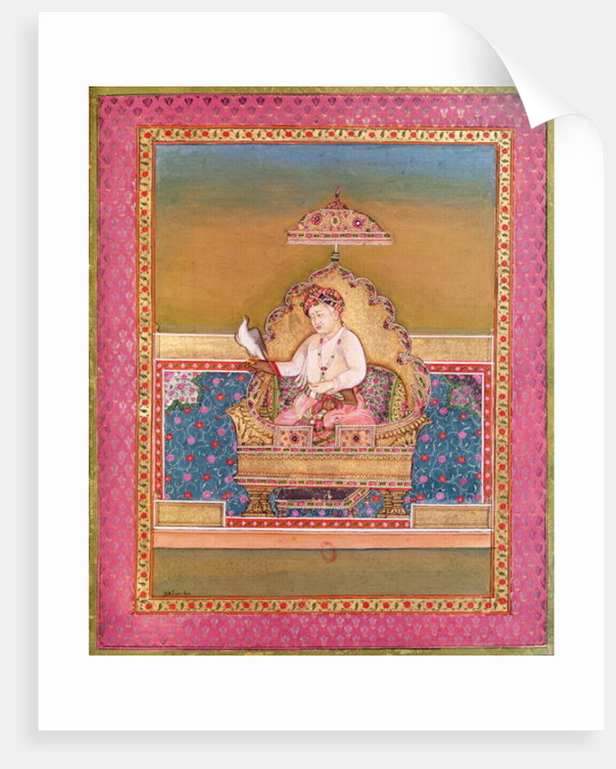 Akbar from an album of portraits of Mughal Emperors at Delhi by Indian School