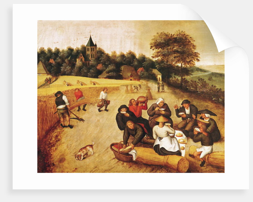 The Harvester's Meal by Pieter the Younger Brueghel