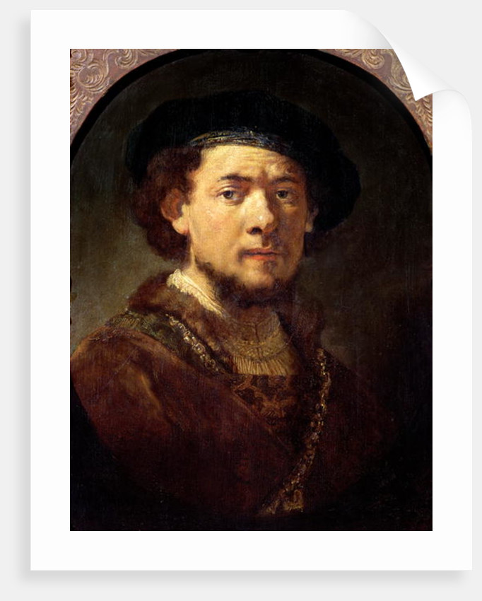 Portrait of a Man with a Gold Chain or, Self Portrait with Beard by Rembrandt Harmensz. van Rijn