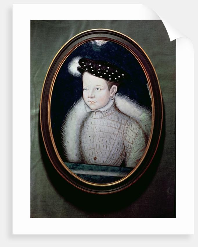 Portrait of Francis II as Dauphin of France by Leonard Limosin