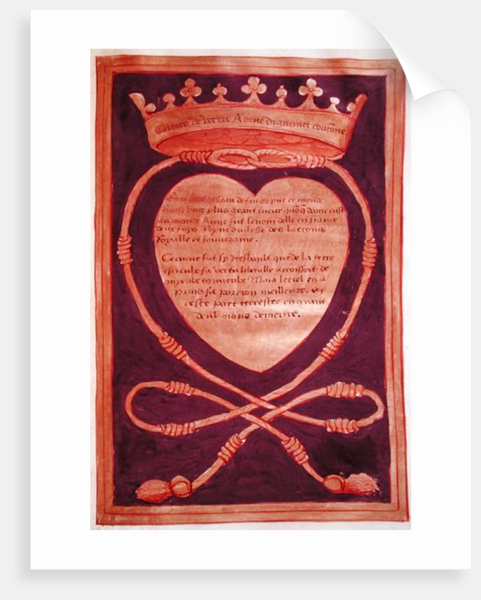 Fol. 61r The Crowned Heart of Courage by Jean Perreal