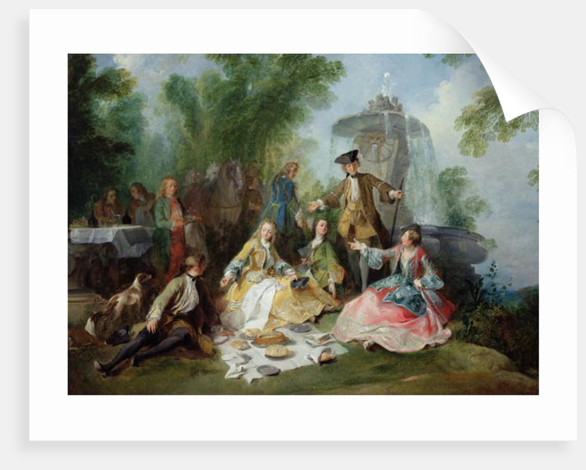 The Hunting Party Meal by Nicolas Lancret