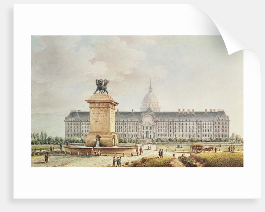 View of the Hotel des Invalides by Victor Jean Nicolle