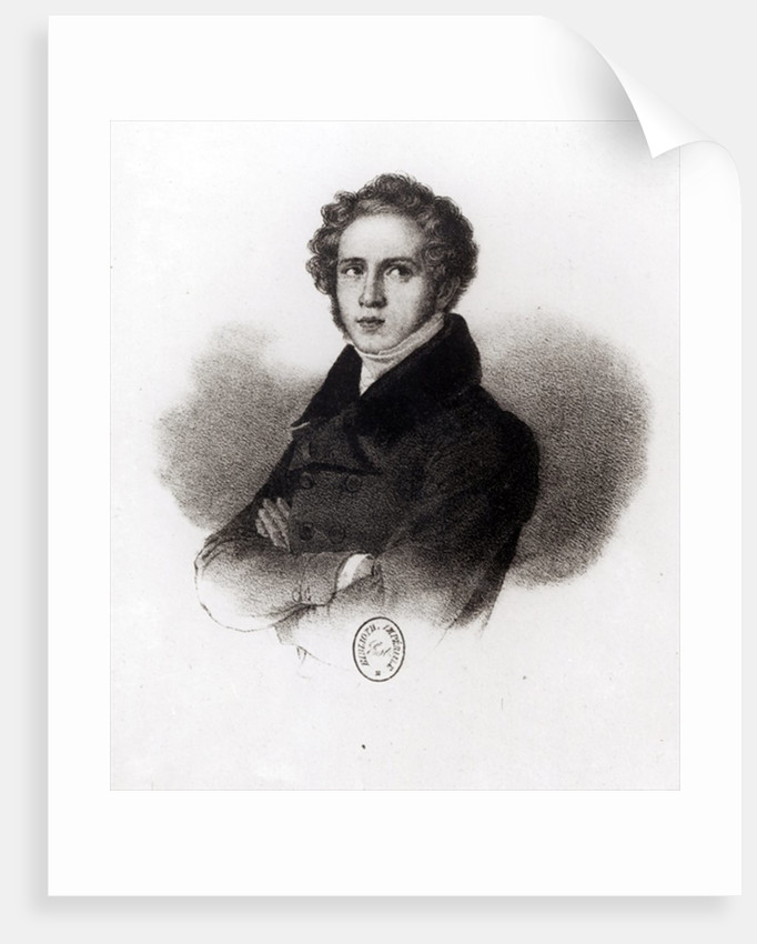 Portrait of Vincenzo Bellini, engraved by Alessandro Focosi by Carlo Arienti