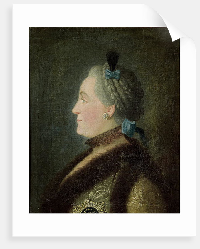 Portrait of Catherine II of Russia, after a painting by Dimitri Gregorievich Levitsky by Pietro Antonio Rotari