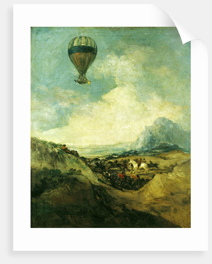 The Balloon or, The Ascent of the Montgolfier by Francisco Jose de Goya y Lucientes