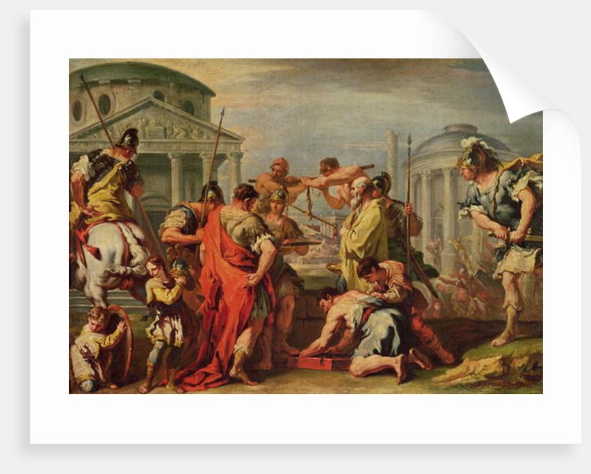 Marcus Furius Camillus and Brennus by Sebastiano Ricci