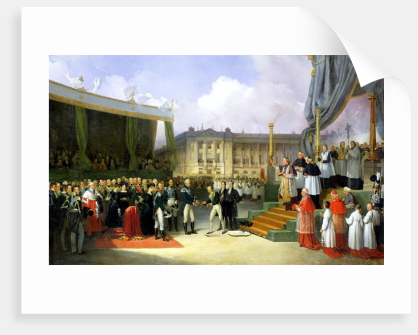 Inauguration of a Monument in Memory of Louis XVI by Charles X at the Place de la Concorde by Joseph Beaume