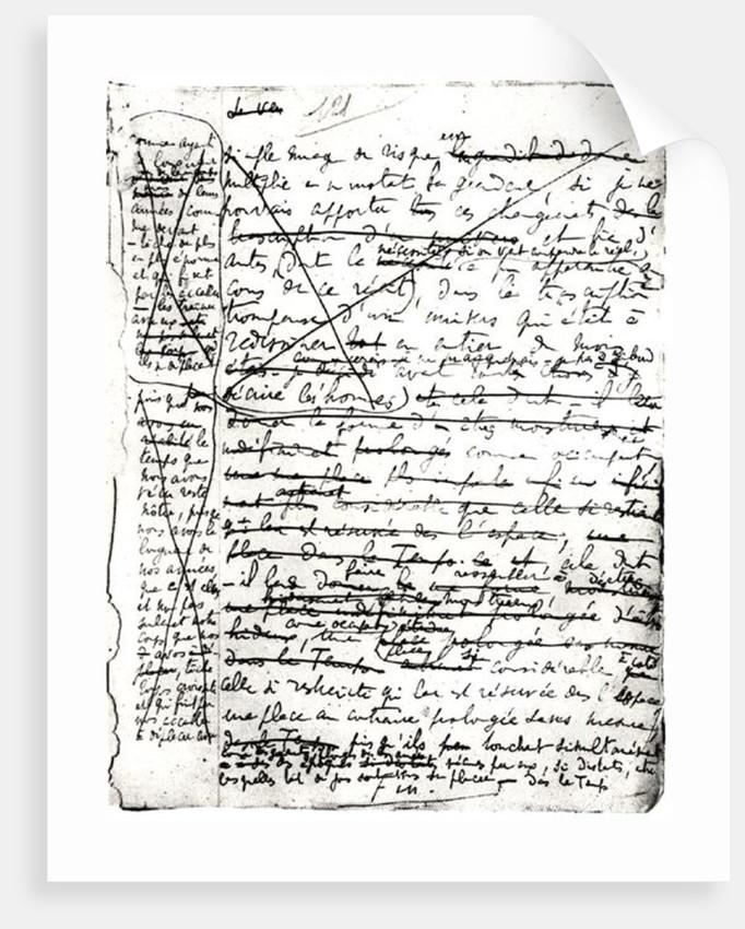 Last page of 'A la Recherche du Temps Perdu' by Marcel Proust