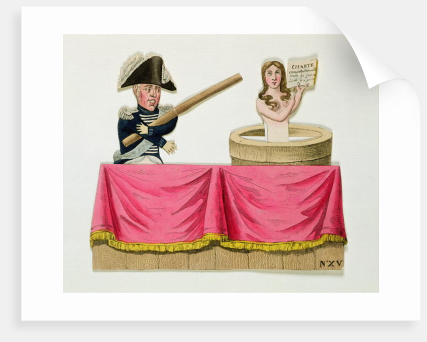 Caricature of the Constitutional Charter of 26th July 1830 by French School