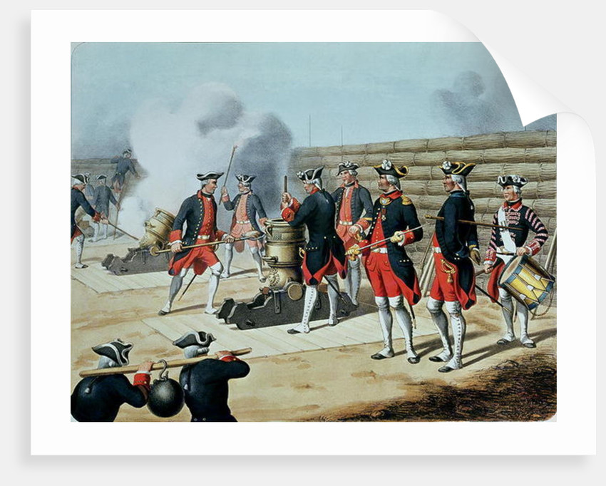 'L'Artillerie Francaise' by Moltzheim, Artillery of the Corps Royal in 1772 by French School