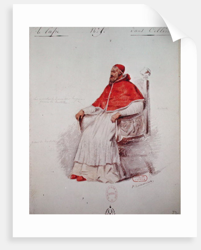 Costume design for the Pope Clement VII in 'Benvenuto Cellini' by Hector Berlioz by Paul Lormier