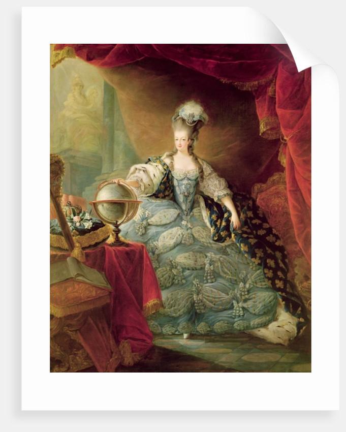 Portrait of Marie Antoinette Queen of France by Jean-Baptiste Andre Gautier D'Agoty
