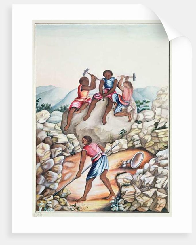 Slaves diamond mining in the Serro Frio region, Minas Gerais, Brazil by Carlos Juliao