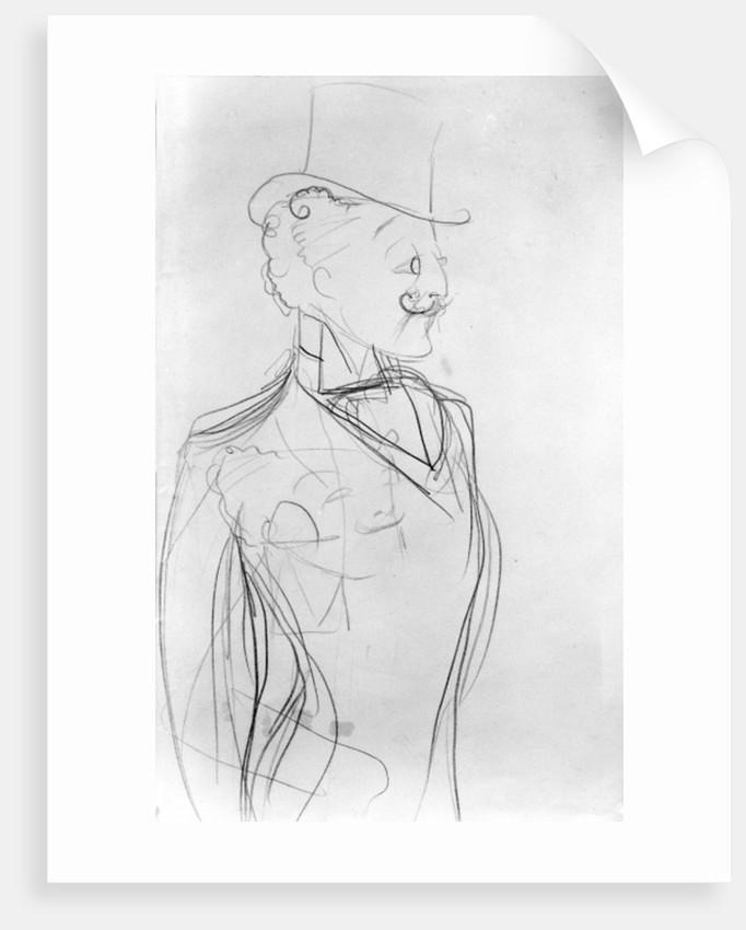 Portrait of Boni de Castellane by Sem