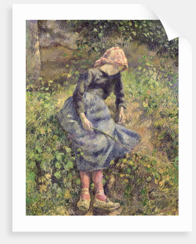 Girl with a Stick by Camille Pissarro